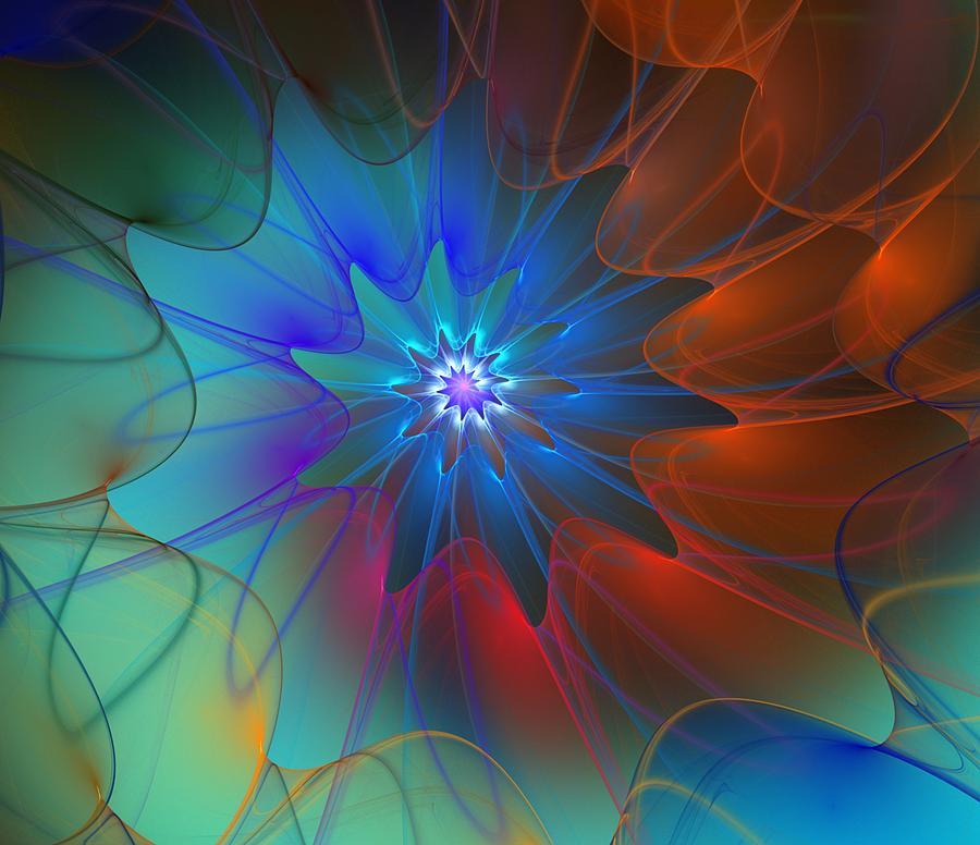 Expressionism Digital Art - Seeking Centerdness  by David Lane