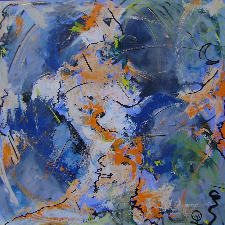 Seeking life at a higher altitude of consciousness- AKA - Woman Painting by Therese Legere