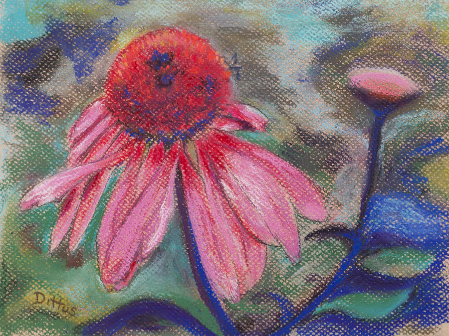 Floral Painting - Seeking Nectar by Chrissey Dittus