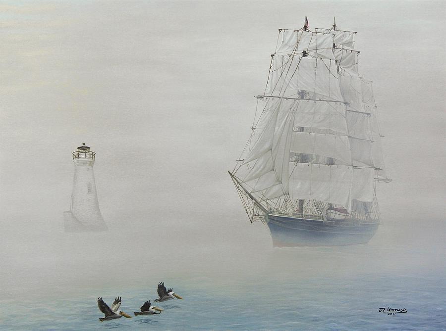 Boat Painting - Seeking Wind by Jim Ziemer