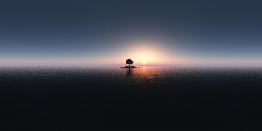 Landscape Digital Art - Seelenfrieden - Peace Of Mind  by Jean Paul Thierevere