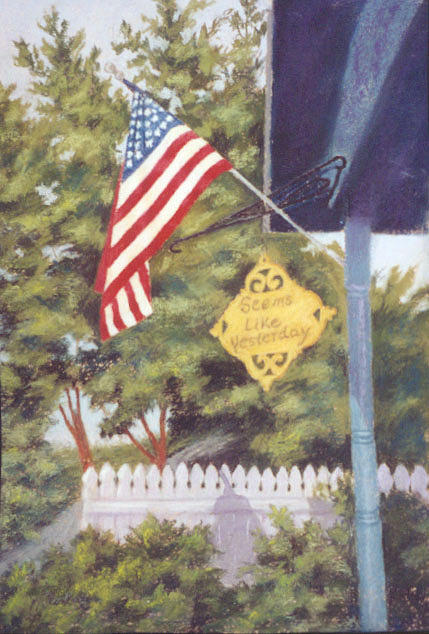 Flag Painting - Seems Like Yesterday by Miriam  Pinkerton