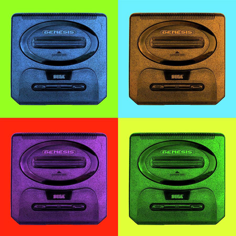 Sega Digital Art - Sega Genesis by Robert Grubbs