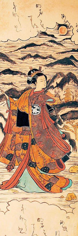 Japanese Painting Painting - Segawa Kiyomitsu by Carrie Jackson