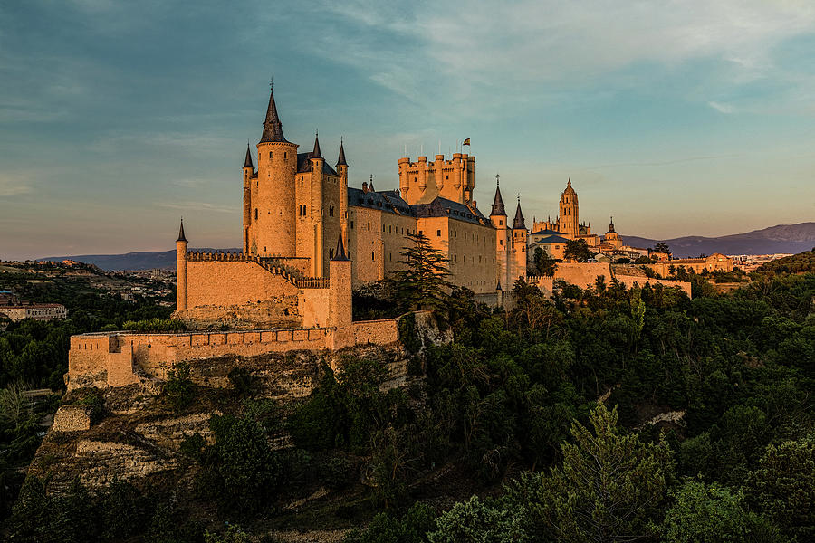 Segovia Alcazar and Cathedral Golden Hour by Josh Bryant