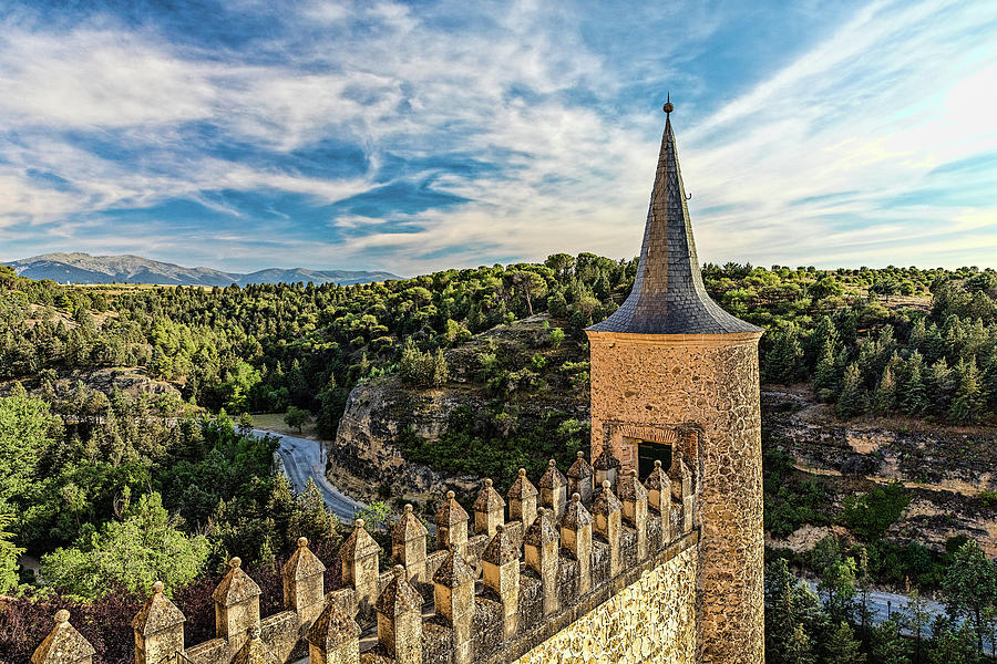 Segovia Alcazar Parapet and Tower by Josh Bryant