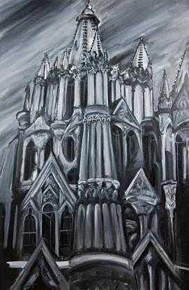 Cathedral Painting - Segrada Familia by Nathaniel Milljour