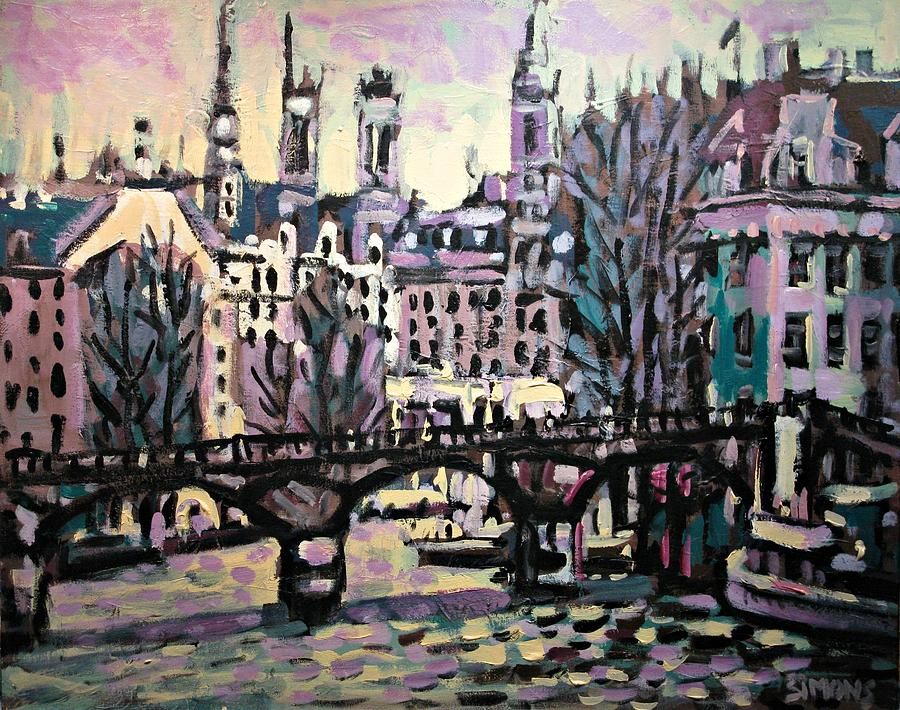 Landscape Painting - Seine by Brian Simons