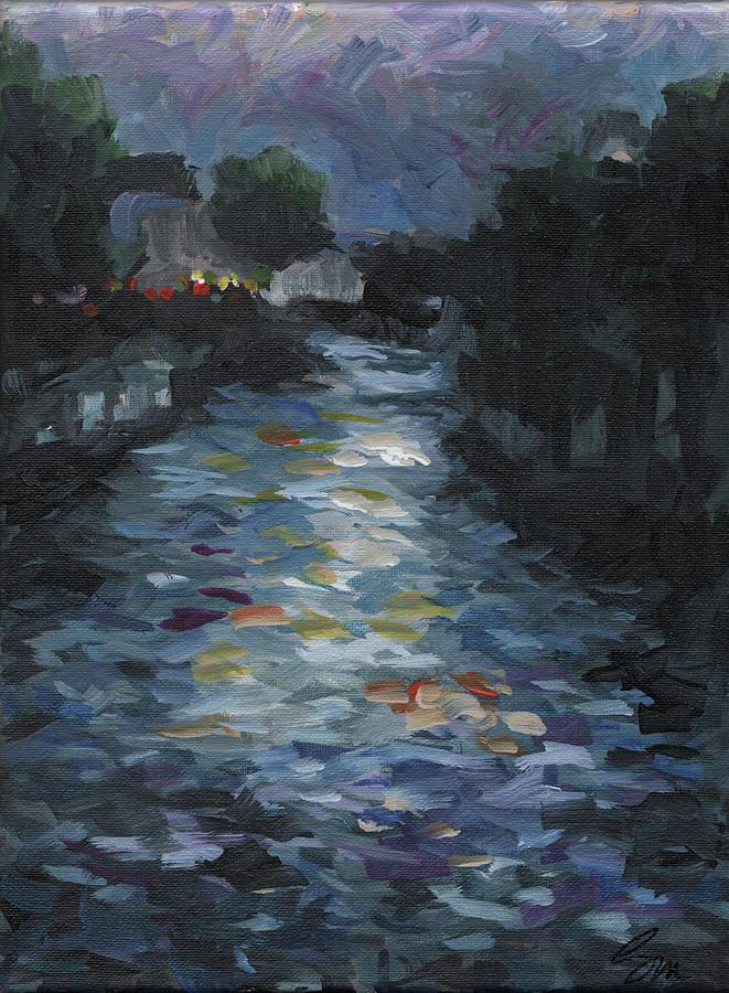 Landscape Painting - Seine by Susan Moore