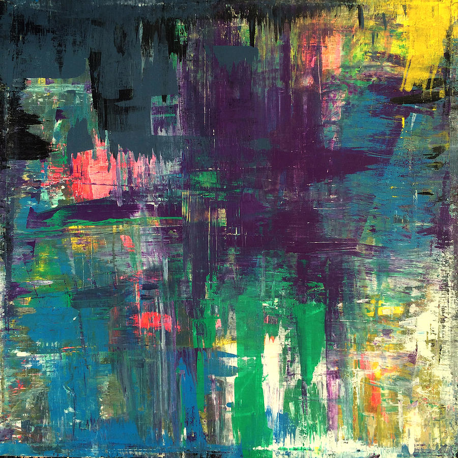 seize the day 48x48 print abstract painting modern art