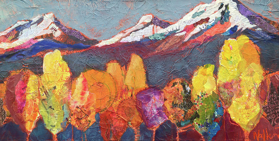 Cascade Mountains Painting - Seize The Day by Shelli Walters