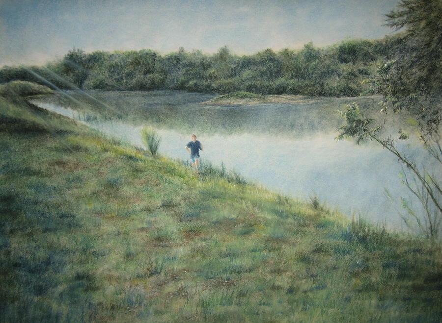 Landscape Pastel - Seize The Hill by Larry Whitler