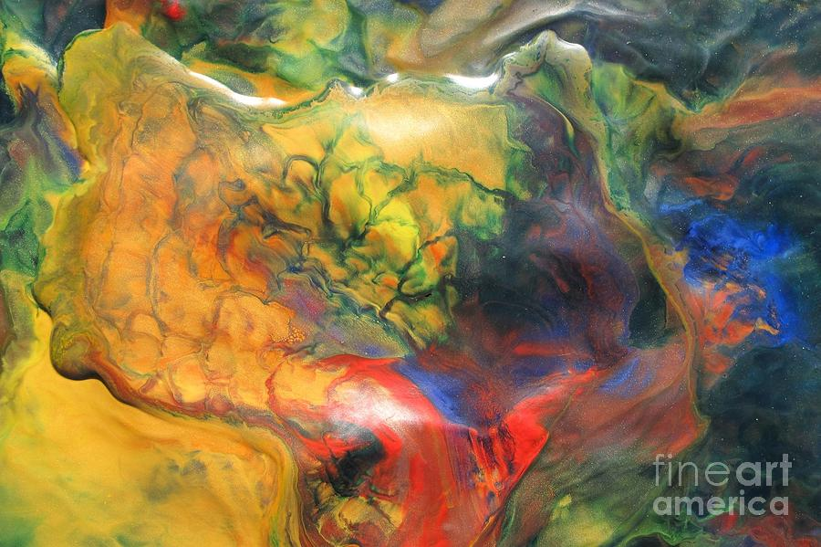 Bold Colors Painting - Self Discovery by Denise Nickey