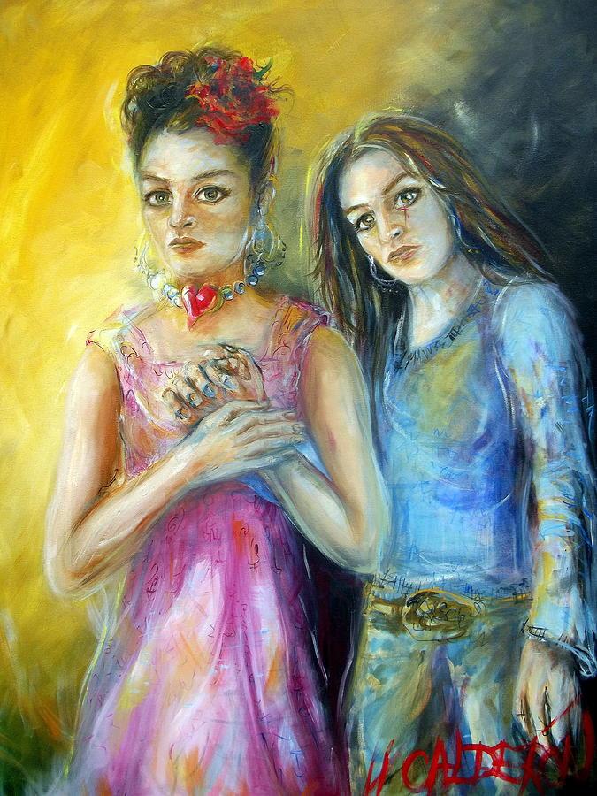 Self Portrait Painting - Self by Heather Calderon