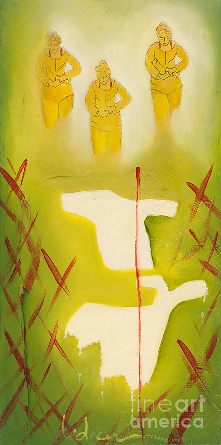 Design Painting - Self- Higher Self- Earth Self by Beatriz E Ledesma