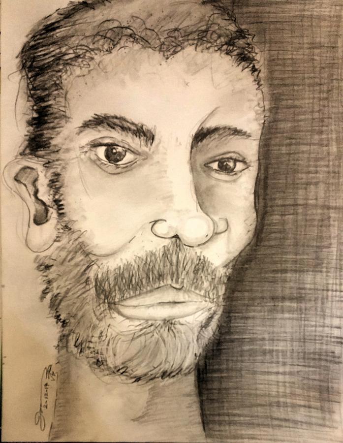 Self-portrait 02-12-7 Drawing