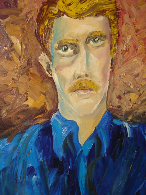 Self Portrait 1 Painting by Houston Prior