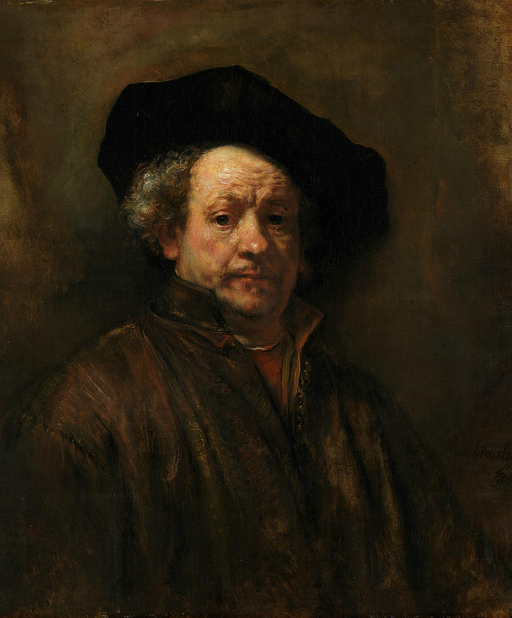Rembrandt Painting - Self-portrait, 1660 by Rembrandt