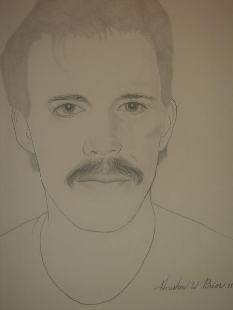 Self Portrait 2 Drawing by Houston Prior