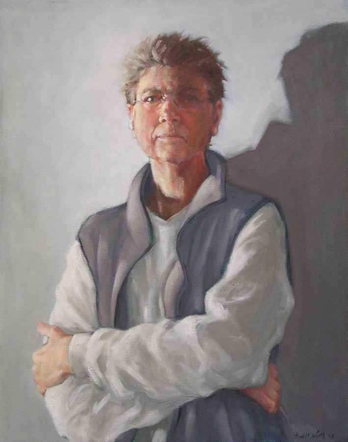 Woman Painting - Self-portrait 2008 by Trudi Smith