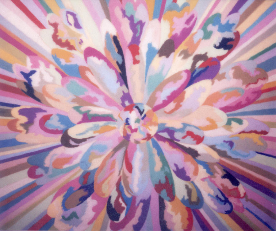 Abstract Painting - Self Portrait A Joyful Noise by MtnWoman Silver