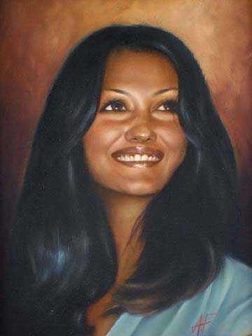 Oil Portrait Painting - Self Portrait by Angela Baggett
