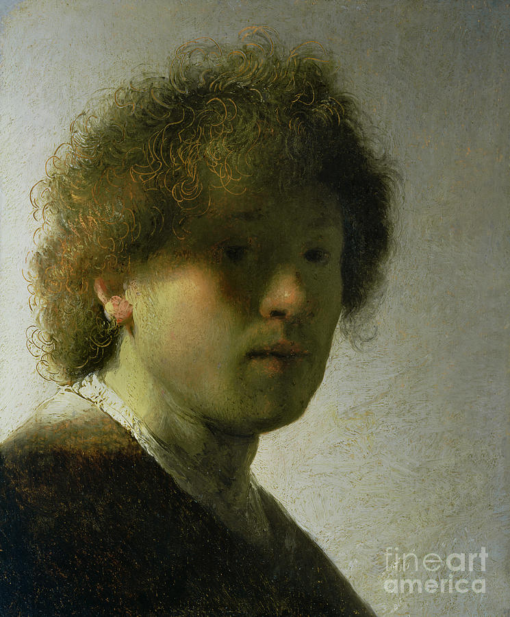 Self Painting - Self Portrait As A Young Man by Rembrandt
