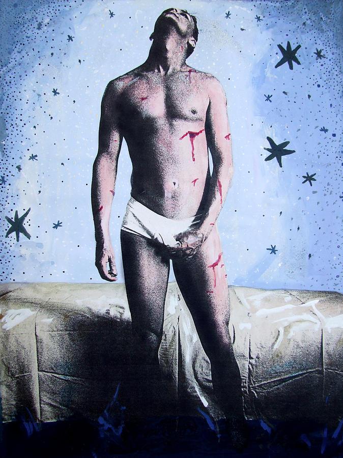 Self Portrait Painting - Self Portrait As Saint Sebastian by John Douglas