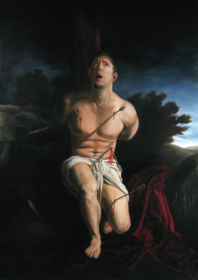 St Sebastian Painting - Self Portrait as St. Sebastian by Eric  Armusik