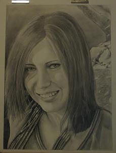 Self-portrait Drawing - Self-portrait by Ashley Cameron