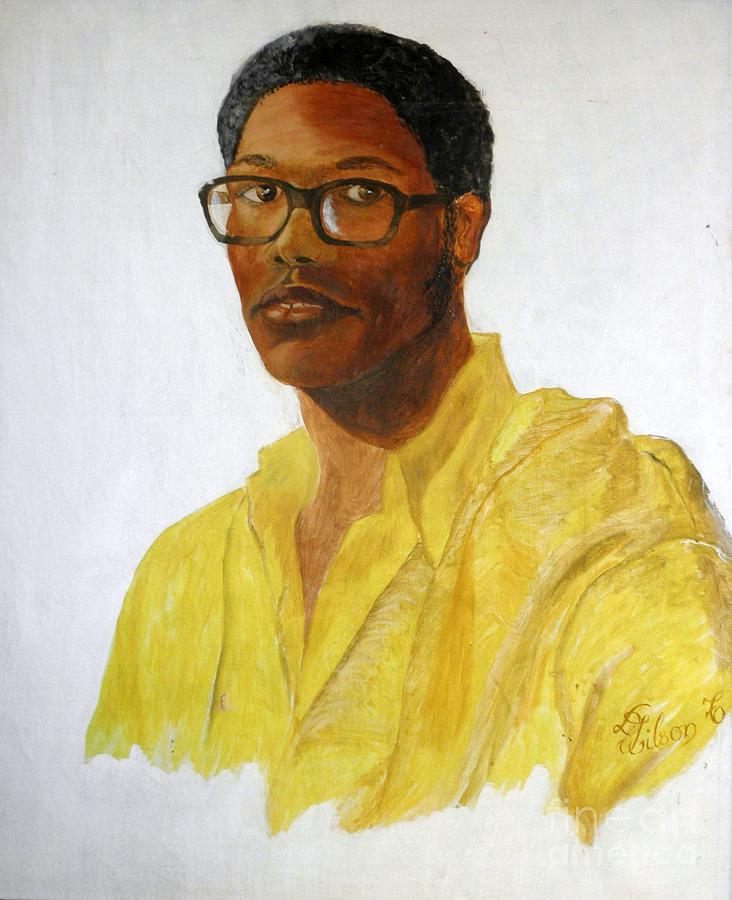 Self Portrait Painting - Self Portrait At 22 by David G Wilson