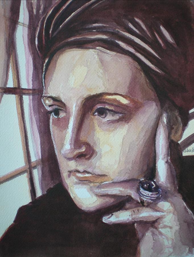 Self-portrait Painting - Self-portrait At 30 by Aleksandra Buha