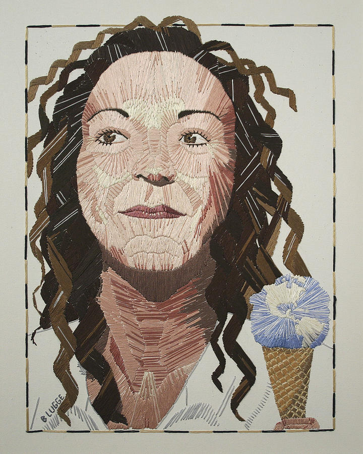 Portrait Tapestry - Textile - Self-portrait by Barbara Lugge