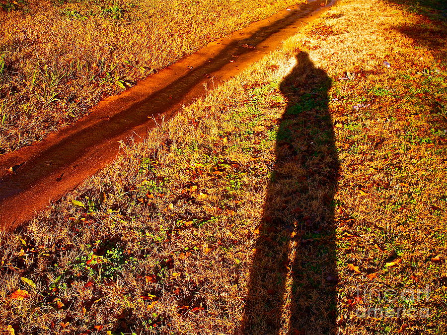 Grass Photograph - Self-Portrait by Sun and Grass by Chuck Taylor