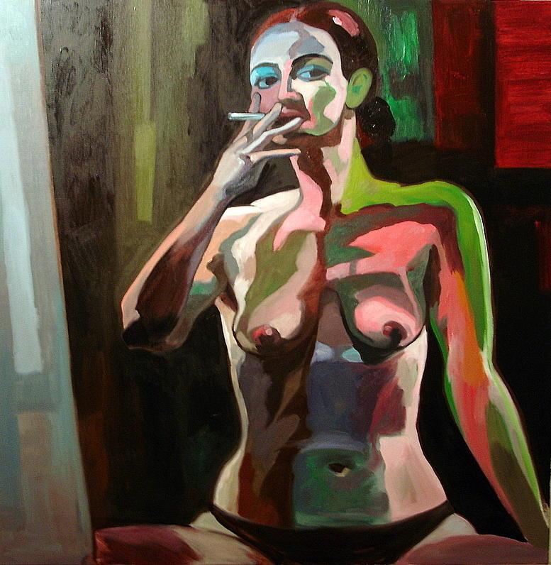 Portraits Painting - Self Portrait by Carmen Stanescu Kutzelnig