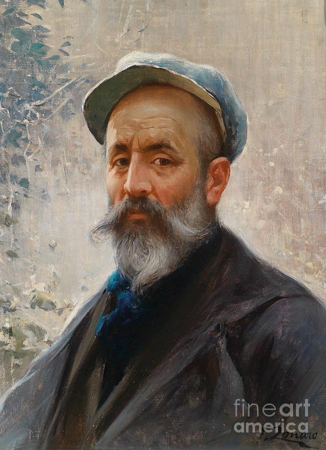 Fausto Zonaro Painting - Self Portrait  by Celestial Images