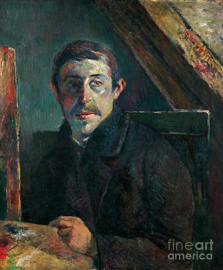 Paul Painting - Self Portrait by Gauguin