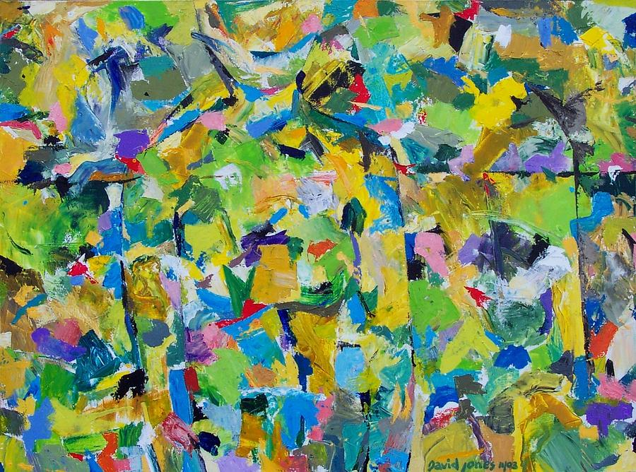 Abstract Painting - Self Portrait In The Woods by Dave Jones