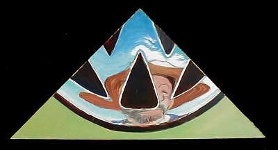 Self Portrait Painting - Self-portrait In Vw Emblem by Doug E L Haynes