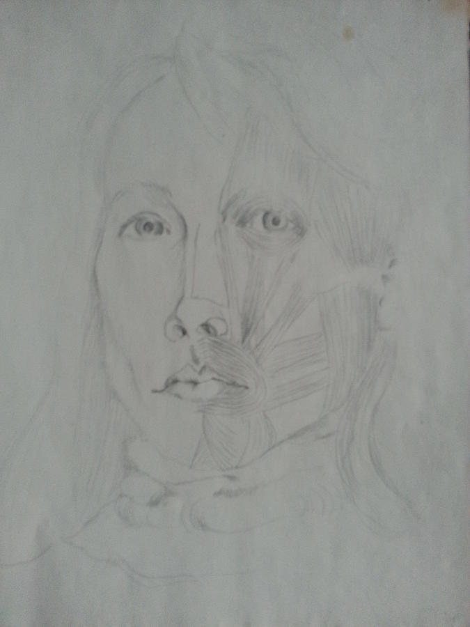 Self Portrait Inside Out Drawing