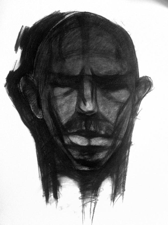 Self-portrait Drawing by Ivan Blagoev