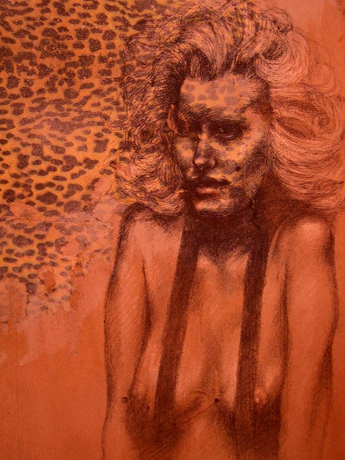 Woman Drawing - Self Portrait by J Oriel
