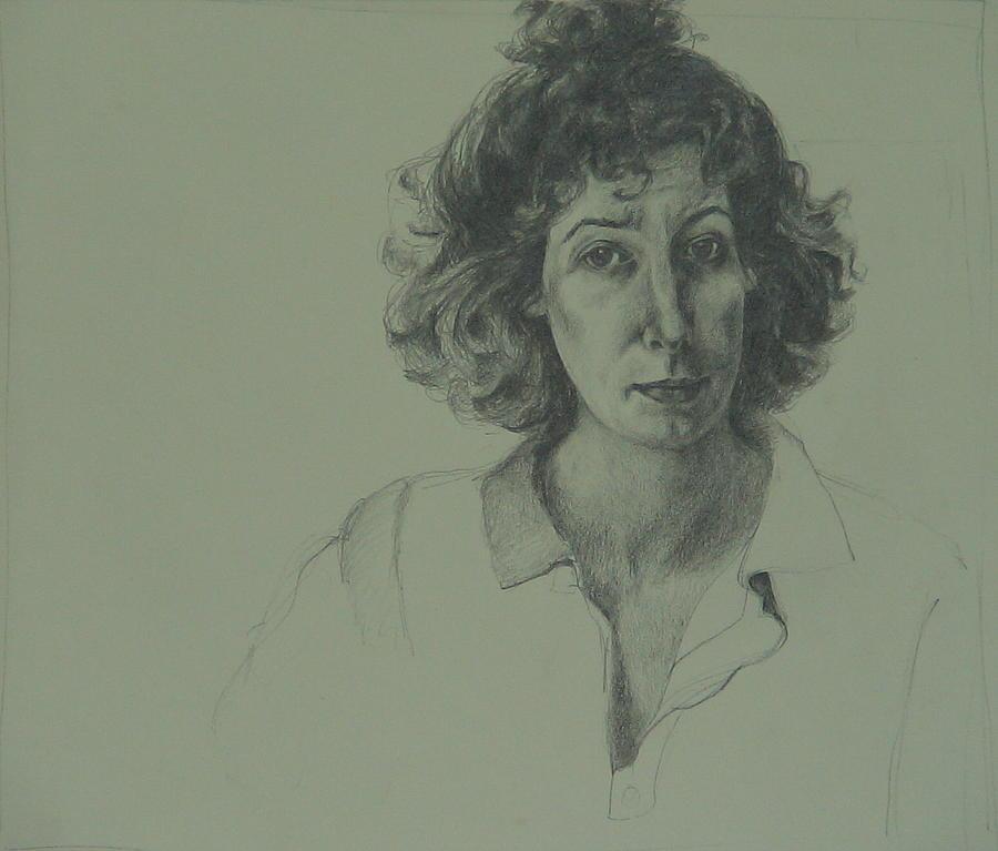 Portrait Drawing - Self-portrait by Jackie Hoats Shields