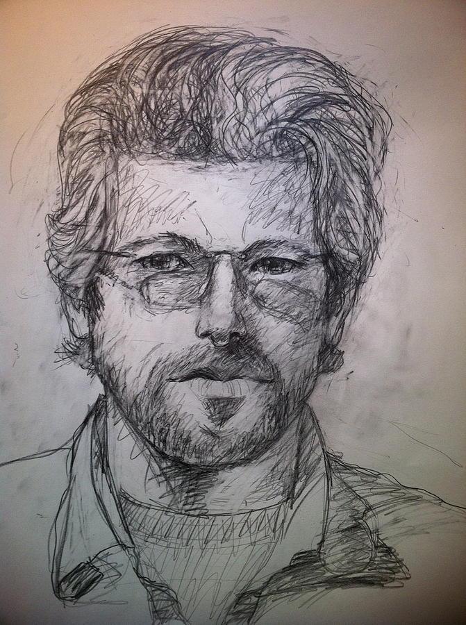 Pencil Portrait Drawing - Self Portrait by Jeff Levitch