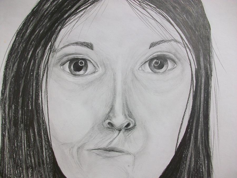 Self Portrait Drawing Drawing - Self Portrait by Kate Padberg