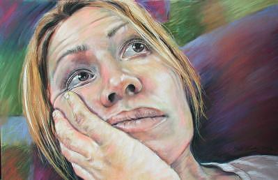 Self Portrait Painting - Self Portrait by Marti Nash