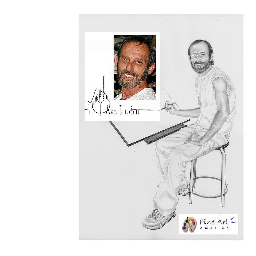 Pencil Drawing - Self Portrait by Murphy Elliott