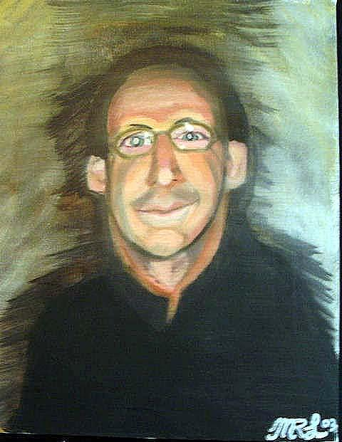 Portraits Painting - Self Portrait Of The Artist by Mark Richard Luther