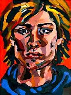 Portrait Painting - Self Portrait by Rika Maja Duevel