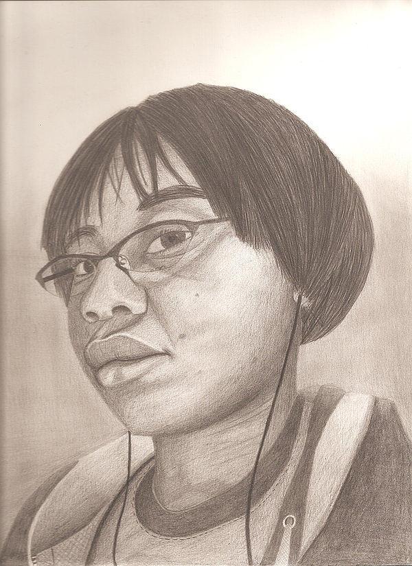 Portrait Drawing - Self Portrait  by Tee Shanee Johnson